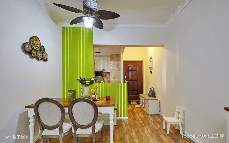 餐厅绿色隔断混搭风格装潢设计图片