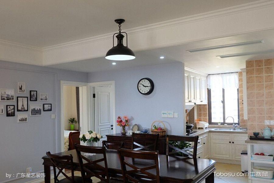 厨房黑色吊顶混搭风格装修图片