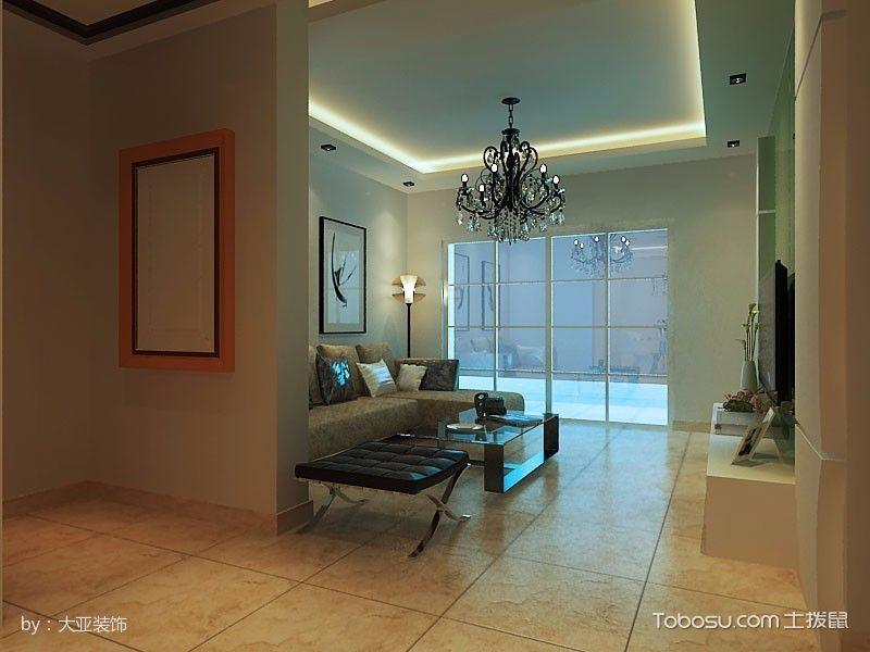 客厅门厅现代简约风格装修设计图片