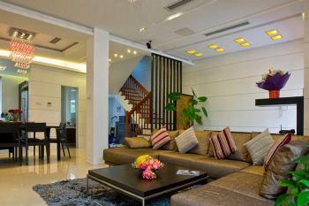 现代风格复式楼房案例效果图