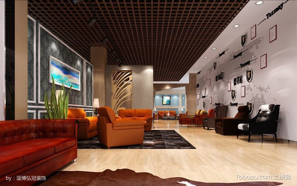 德莘尼展厅装潢设计沙发展区