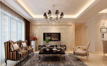 海亮熙园三室两厅一厨两卫户型现代风格装修效果图