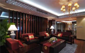 2020现代中式150平米效果图 2020现代中式四居室装修图