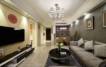 现代简约式三居室设计案例效果图