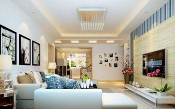 绵阳现代风格三居室案例设计图