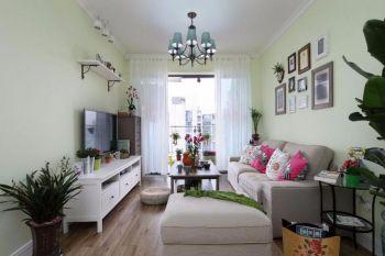 90平清新田园风格三房小户型家居装修效果图