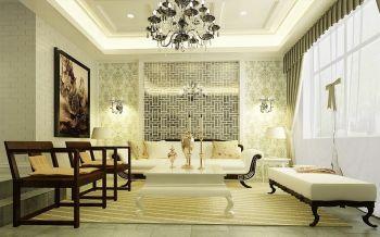 五洲御景城80平2房1厅新中式风格小户型装修效果图