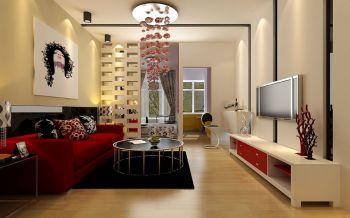 城南小苑40平现代简约风格一房一厅小户型装修效果图