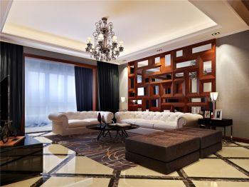 御城现代美式风格三居室家庭装修效果图