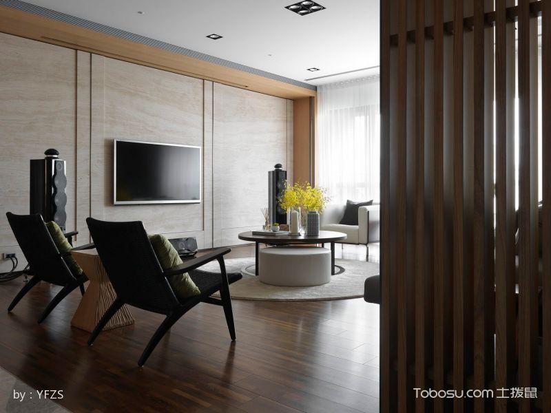 客厅 隔断_现代设计风格大户型案例图片