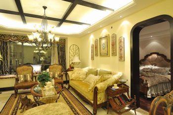 福水美式风格四居室装修案例图