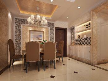 简欧风格三居室家庭装修效果案例图