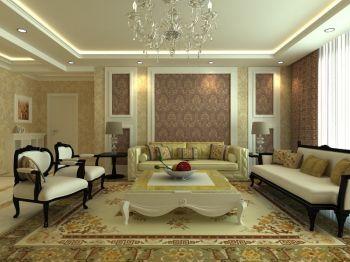 现代欧式风格家庭四居装修效果图案例