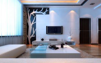 简约风格二居室家装设计案例图