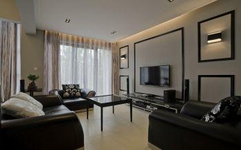 三居室现代家装风格案例效果图