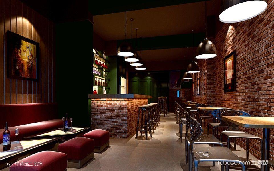 美式复古风格酒吧卡座吧台装潢设计