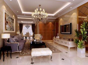 欧式风格三居室装修效果图大全