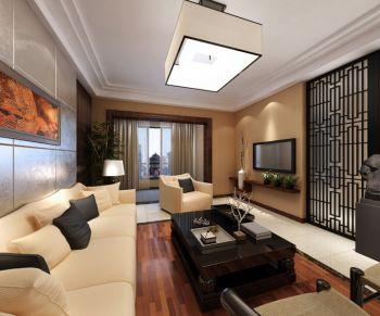 150平米新中式淡雅温馨家庭三居效果图