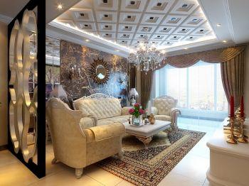 欧式元素二居室家庭装修效果图