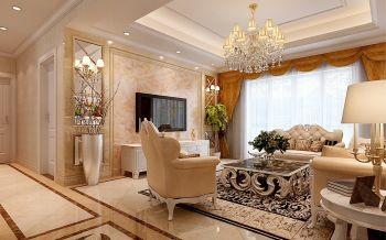 融侨官邸三室两厅一厨两卫简欧风格装修效果图