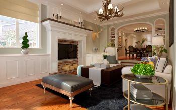 一里洋房三室两厅美式风格装修效果图