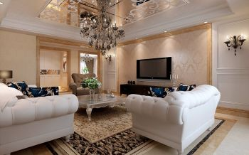 世纪家园145平简约欧式风格装修效果图