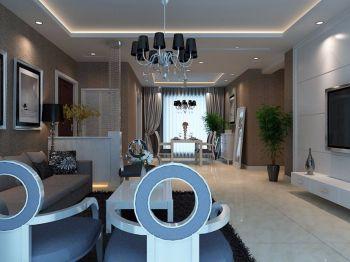 简欧式两居室设计效果图案例