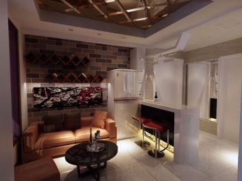 现代简约小复式客厅家居设计效果图