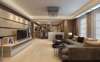 现代简约风格都市公寓装修案例图