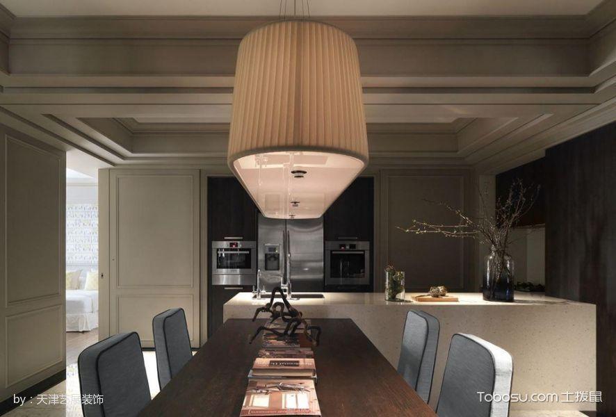 餐厅橙色灯具混搭风格装饰图片
