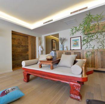 尚乐城三居室110平混搭中式简单装修效果图