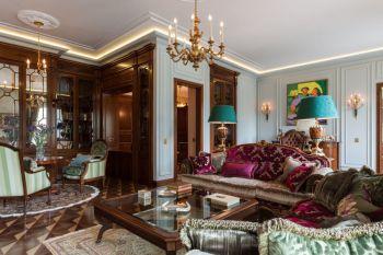 融侨观邸欧式混搭三室两厅一卫装修效果图