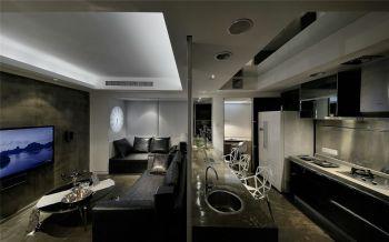 现代简约72平米两房一厅小户型装修效果图
