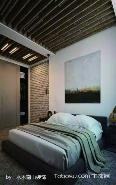 卧室白色床混搭风格装饰设计图片
