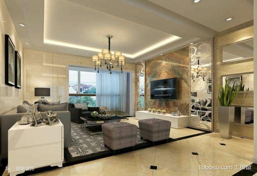 中凯127平米三房二厅现代简约装修效果图
