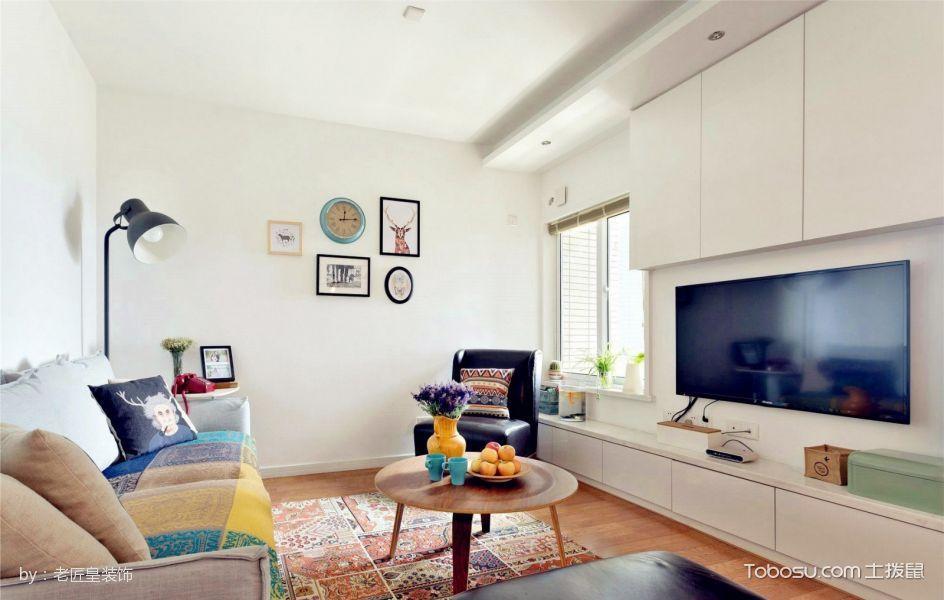 客厅白色电视柜北欧风格装修效果图