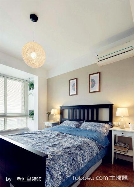 卧室白色床头柜北欧风格装饰效果图