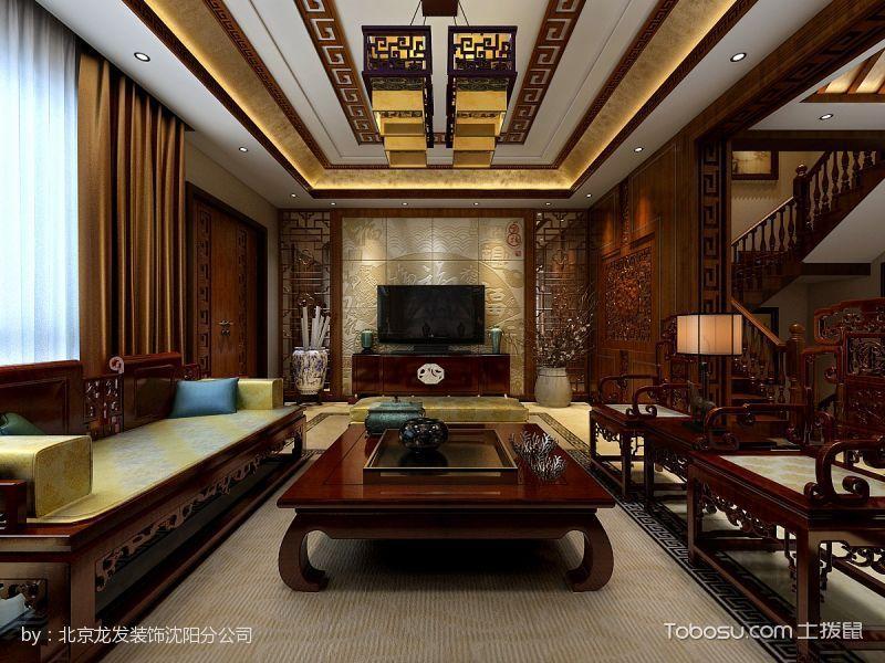 中式豪华混搭别墅装修效果图案例