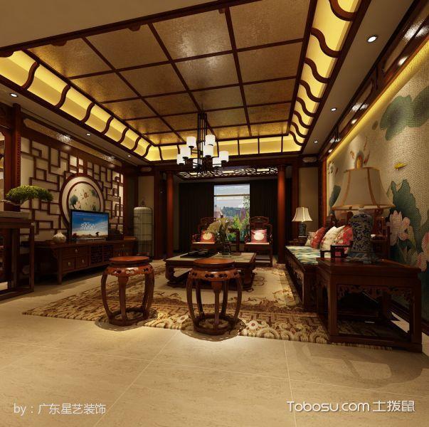 2020中式古典110平米装修图片 2020中式古典套房设计图片