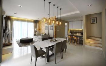 桂荷园简约风格二居室装修设计图片