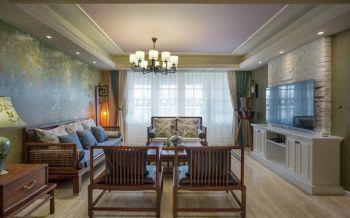 新中式混搭风格三室两厅装修设计案例图