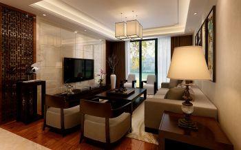 祥源广场三室两厅一厨两卫现代中式风格装修效果图