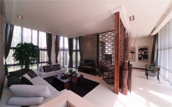 合生国际现代中式风四居室装修设计案例