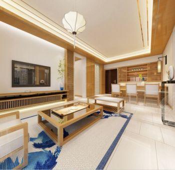 现代日式风格三居室装修效果图