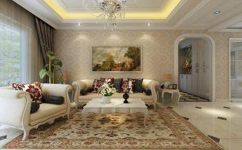 光明世家140平方四居室简欧风格效果图案例赏析