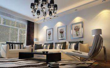现代简约风格时尚两居室样板间设计