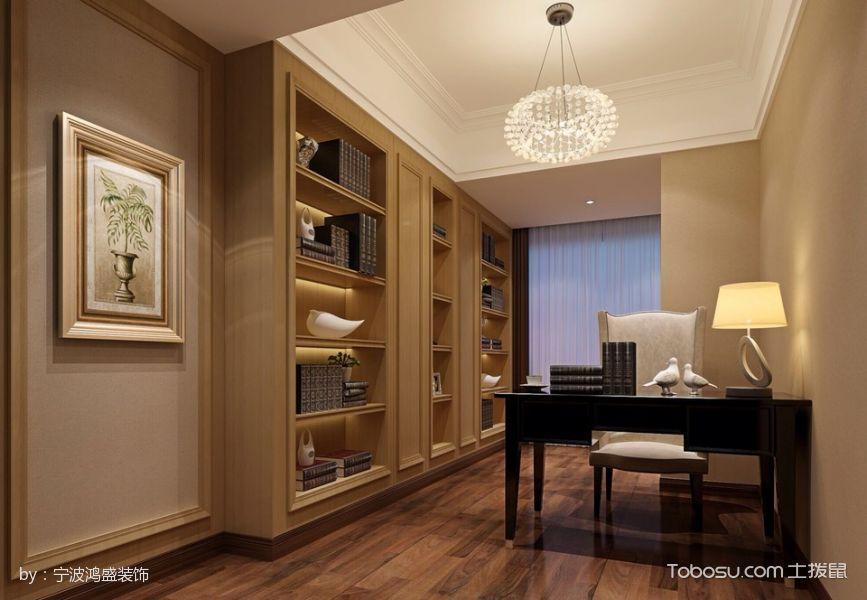 2020现代欧式书房装修设计 2020现代欧式博古架装修设计图片
