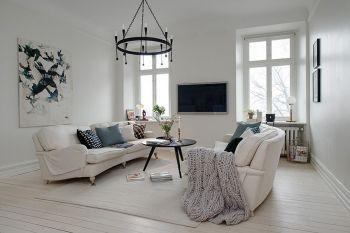 白色北欧印象家居装修效果图