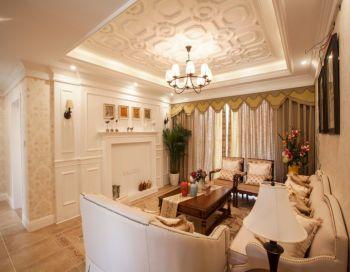 温馨美式混搭风格三居室装修效果图
