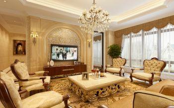 龙湖花漫庭欧式风格三房效果图案例